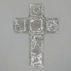 Glaskreuz Grau