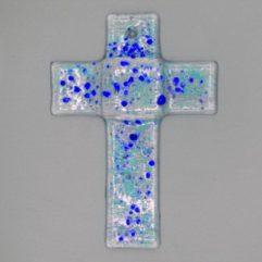 Glaskreuz Blau