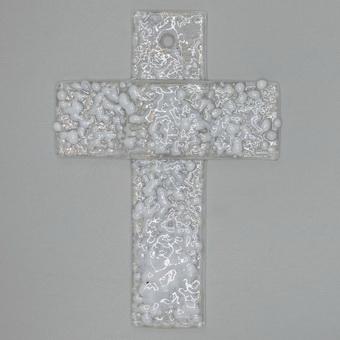 Glaskreuz Weiß